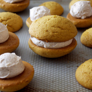 Pumpkin Whoopie Pies with Whipped Cinnamon Filling