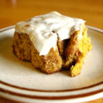 Pumpkin Cinnamon Rolls | warm, gooey pumpkin cinnamon rolls smothered in a cream cheese frosting are what you need every morning from October through December | www.thebatterthickens.com