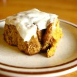 Pumpkin Cinnamon Rolls with Cream Cheese Glaze - a delicious #pumpkin treat perfect for breakfast or dessert or second breakfast | www.thebatterthickens.com
