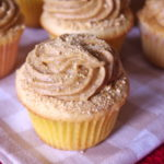Reversed Pumpkin Cheesecake Cupcakes | Cream Cheese Cupcakes with Pumpkin Cheesecake Frosting - The Batter Thickens