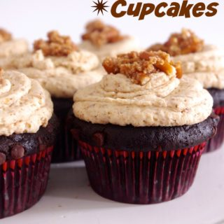 Guinness Chocolate Cupcakes with Pretzel Frosting