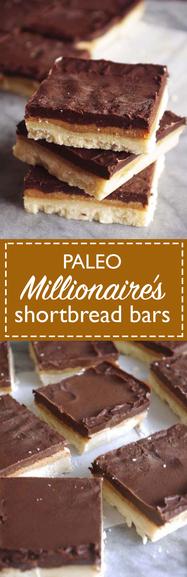 Paleo Millionaire's Shortbread | a no-bake, paleo version of Millionaire's shortbread that tastes just as sweet and satisfying as the original! | www.thebatterthickens.com