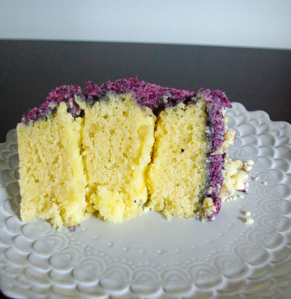 Blueberry, Lemon, and Vanilla Layer Cake | This cake is a light treat, using some Momofuku Milk Bar recipes and some basic ones, the flavors combine together perfectly.