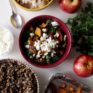 Fall Harvest Bowl with Roasted Sweet Potato, Apple, and Wild Rice