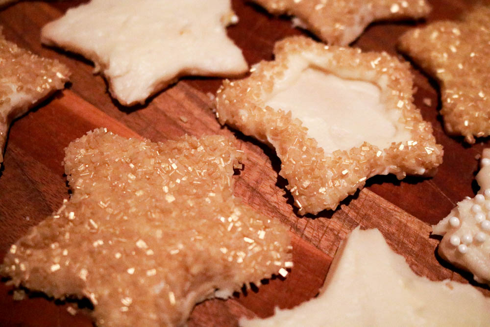 Brown Butter Sugar Cookies with Eggnog Frosting | The Batter Thickens