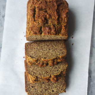Paleo Bread - inspired by the Erewhon paleo bread, made with almond meal and coconut flour - a nutty, moist, and satisfying snack or breakfast #paleo #glutenfree #bread #dairyfree | www.thebatterthickens.com